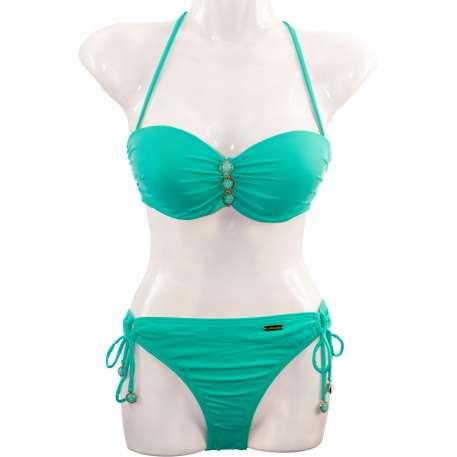 Bügel-Bandeau-Bikini - türkis von LASCANA