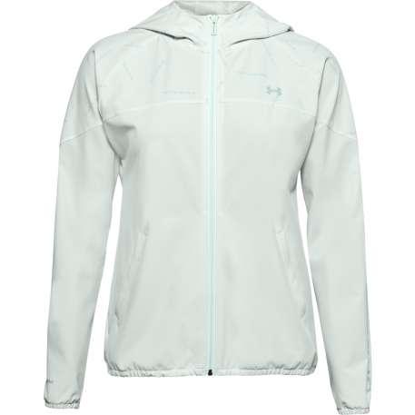 Damen Jacke Woven Printed Hooded Jacke XXL